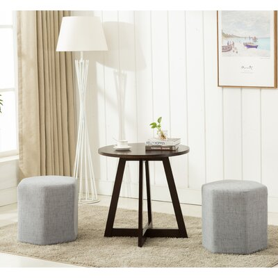 Horrocks 3 Piece Hexagon Ottoman Set Upholstery: Light Gray