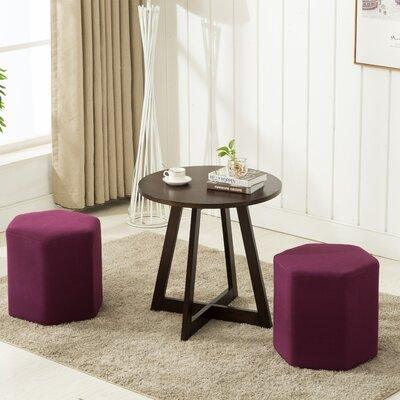 Horrocks 3 Piece Ottoman Set Upholstery: Purple