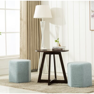 Horrocks 3 Piece Hexagon Ottoman Set Upholstery: Light Blue