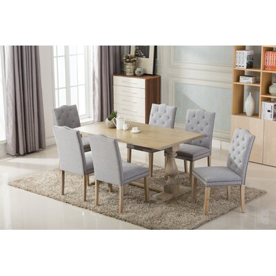 Dietz 7 Piece Dining Set Chair Finish: Light Gray