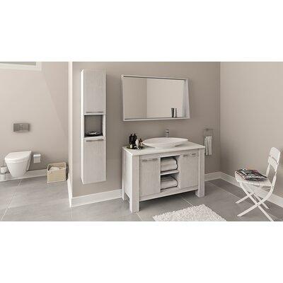 Nico 48 Single Bathroom Vanity Set Base Finish: Veneer Country White