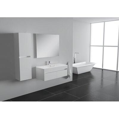 Nico 25 Single Bathroom Vanity Set Base Finish: Eco White