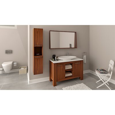 Nico 48 Single Bathroom Vanity Set Base Finish: Veneer Dark Oak