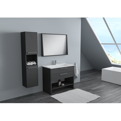 Nico Modern 40 Single Bathroom Vanity Set Base Finish: Lacquer Matte Gray