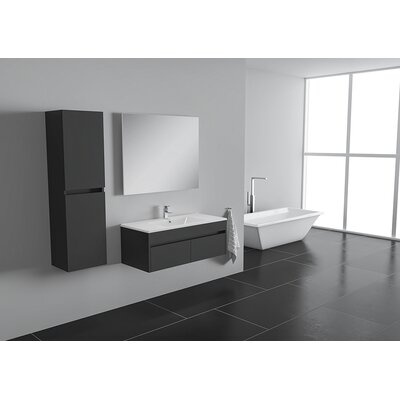 Nico 25 Single Bathroom Vanity Set Base Finish: Eco Gray