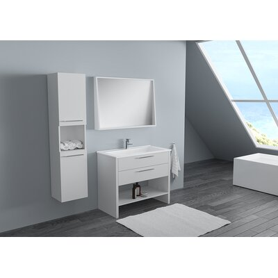 Nico Modern 40 Single Bathroom Vanity Set Base Finish: Lacquer Matte White