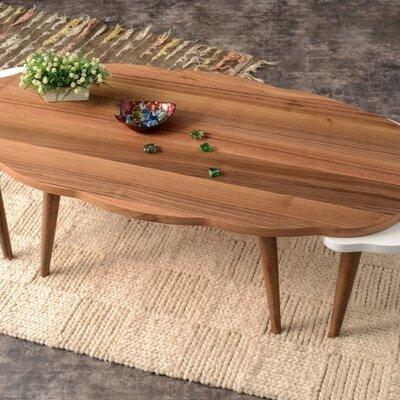 Everett 3 Piece Walnut Coffee Table Set