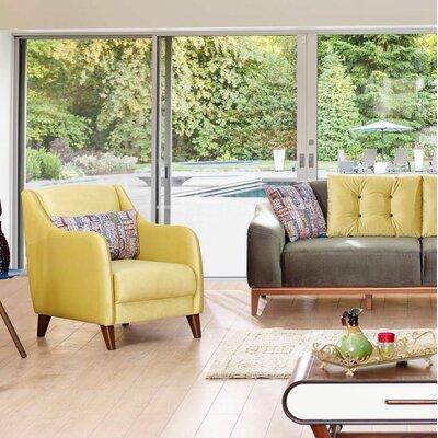Danos Modern Velvet Wingback Chair