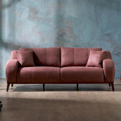 Danos Modern 3 Seater Sofa Upholstery: Dry Rose