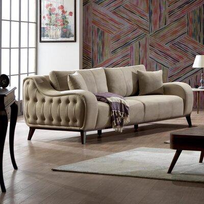Danos Modern Loveseat Upholstery: Beige