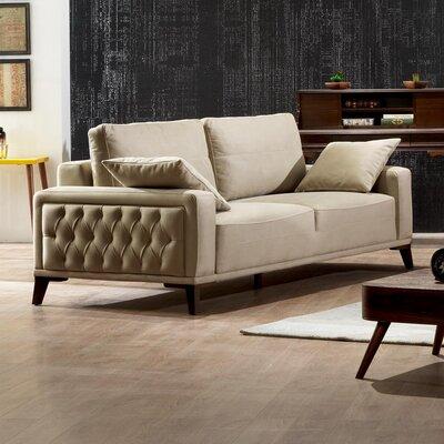 Danos 3 Seater Futon Sofa Upholstery: Beige