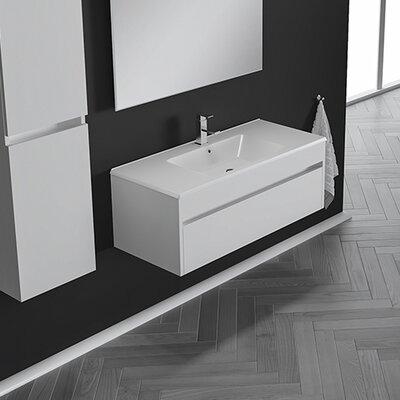 Nico 25 Single Bathroom Vanity Set with Single Hole Faucet Base Finish: Eco White