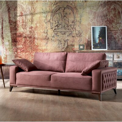 Danos 3 Seater Futon Sofa Upholstery: Dry Rose
