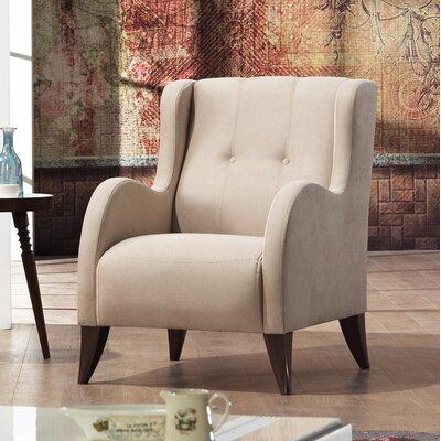 Danos Modern Nubuck Wingback Chair