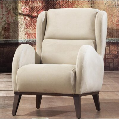 Danos Wingback Chair Upholstery: Dry Rose