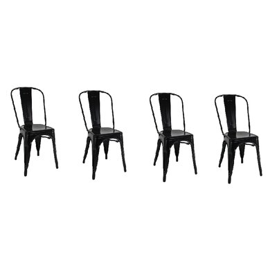 Yashvi Dining Armless Chair Color: Black