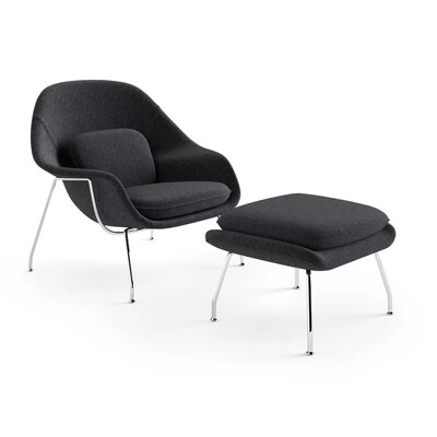 Kirsch Lounge Chair Upholstery: Black