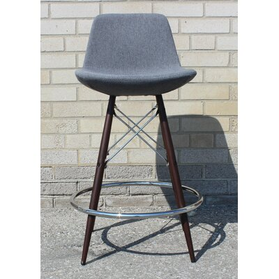Vidrio 24 Bar Stool Color: Black
