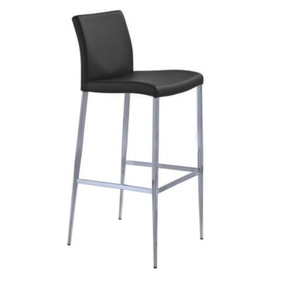 Raven 30 Bar Stool Color: Black