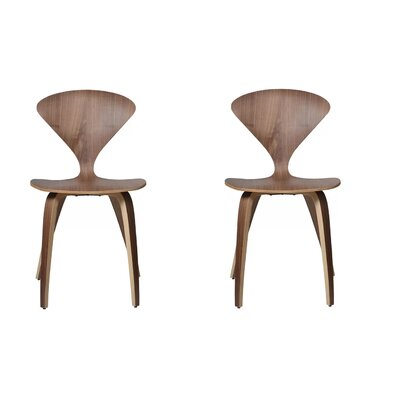 Adelina Solid Wood Dining Chair Set Of: Set of 2