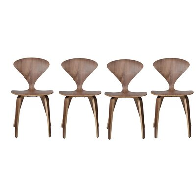 Adelina Solid Wood Dining Chair Set Of: Set of 4