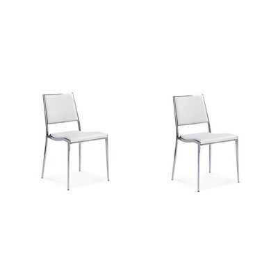 Cowger Contemporary Upholstered Dining Chair Upholstery Color: White