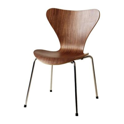 Bryd Contemporary Dining Chair Color: Walnut