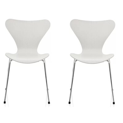 Bryd Dining Chair Color: White