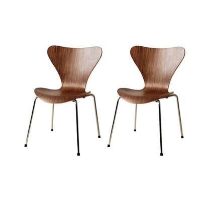 Bryd Dining Chair Color: Walnut