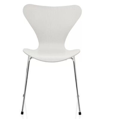 Pohlman Solid Wood Dining Chair Color: White