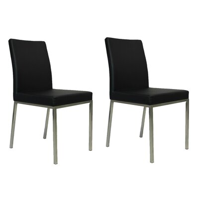 Reay Dining Chair Upholstery Color: Black