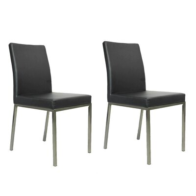 Reay Dining Chair Upholstery Color: Dark Gray