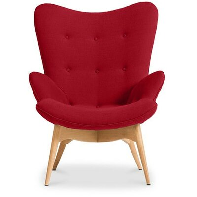 Pericles Armchair Chair Upholstery: Red