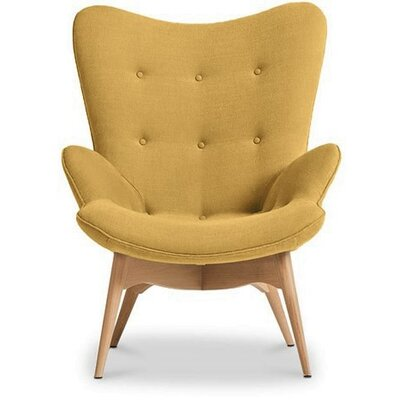 Pericles Armchair Chair Upholstery: Yellow