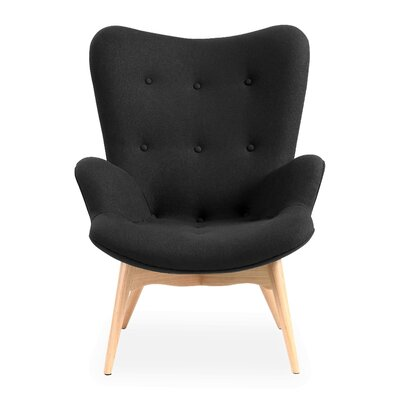 Pericles Armchair Chair Upholstery: Black