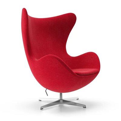 Kinzel Wingback Chair Upholstery: Red
