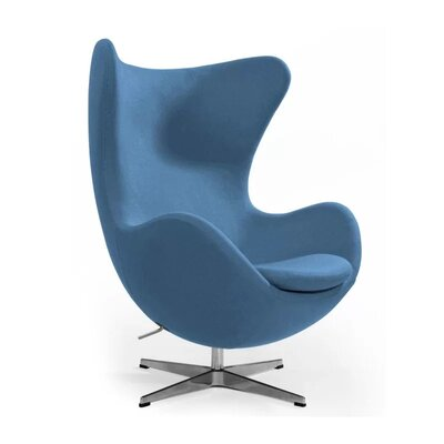 Quarterman Contemporary Swivel Lounge Chair Upholstery: Blue