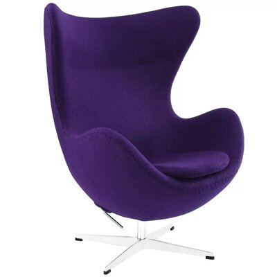 Quarterman Contemporary Swivel Lounge Chair Upholstery: Purple
