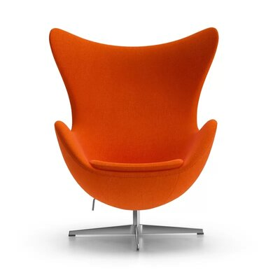 Kinzel Wingback Chair Upholstery: Orange