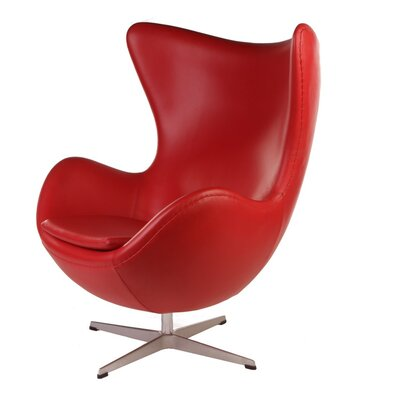 Kinzel Wingback Chair Upholstery: Patent Red