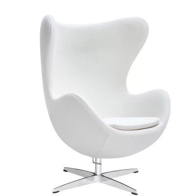 Kinzel Wingback Chair Upholstery: White