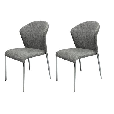 Banker Upholstered Dining Chair Upholstery Color: Gray