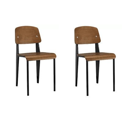 Crowl Dining Chair Color: Black/Natural