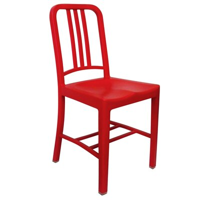 Romig Stackable Dining Chair Color: Red