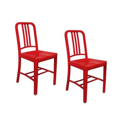 Romig Dining Chair Color: Red