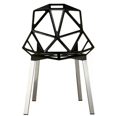 Burkholder Dining Chair Color: Black