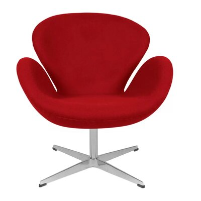 Brundage Wingback Chair Upholstery: Red