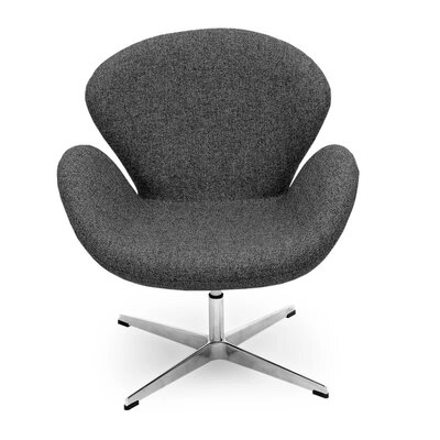 Brundage Wingback Chair Upholstery: Gray