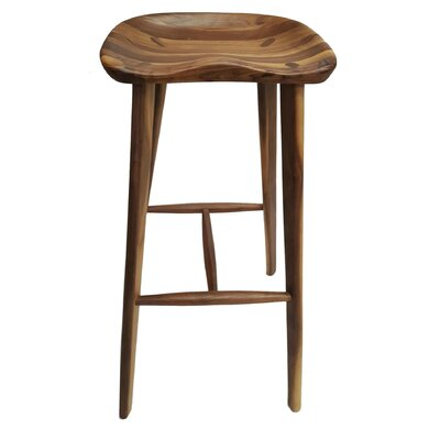 Candelaria Walnut 28 Bar Stool