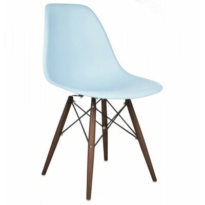 Eiffel Dining Chair Color: Baby Blue, Leg Color: Walnut